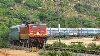 RED WAP 1 leads HINDUPUR Passenger up the Ghats !! Indian Railways