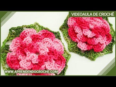 Flor de Croche Rasteirinha - Aprendendo Croch? - YouTube