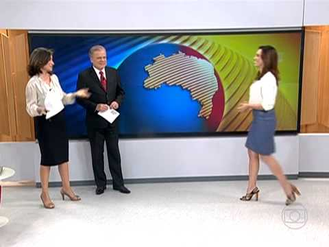 Renata Vasconcellos se despede e Ana Paula Araújo assume o Bom Dia Brasil (30/09/2013)