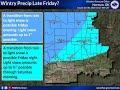Wintry Precipitation Possible Friday Night January 10th