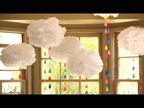How to Make a Rainbow Showers Mobile    KIN DIY