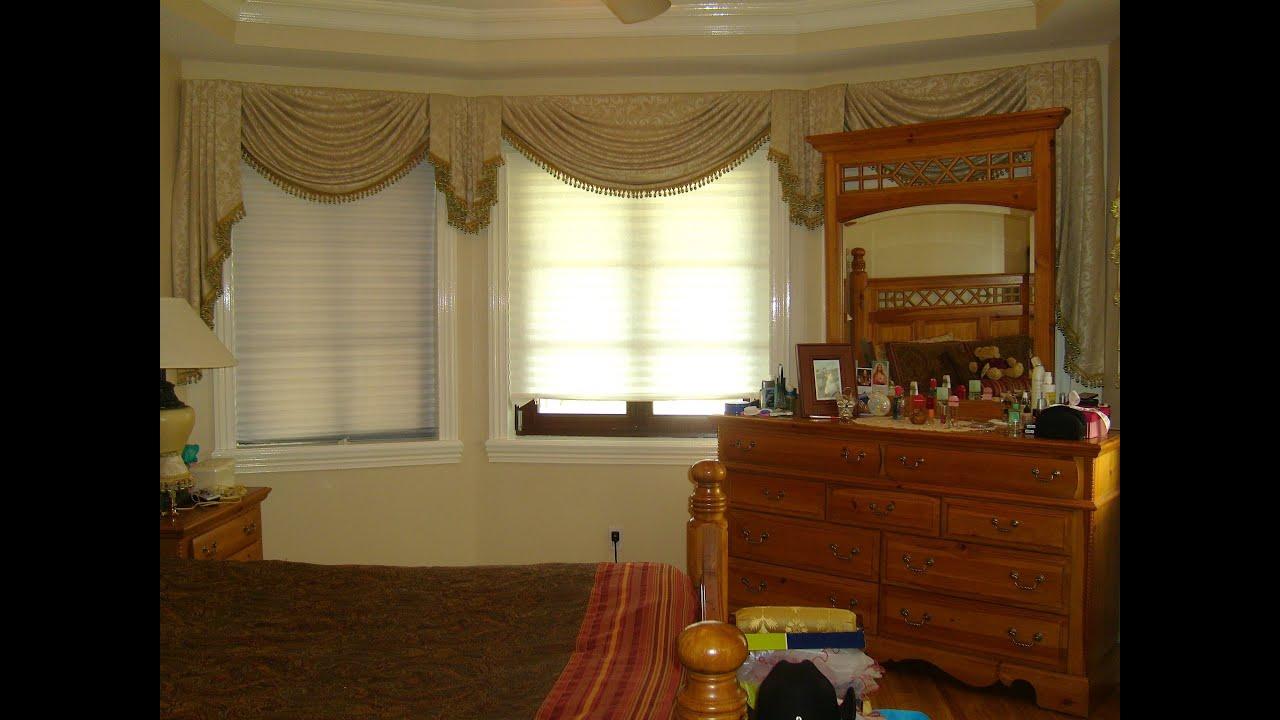 Como hacer una cenefa o cortina drapeada parte 1 3 la for Como poner ganchos de cortinas