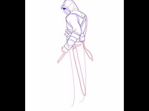 Видео как нарисовать Альтаира карандашом поэтапно