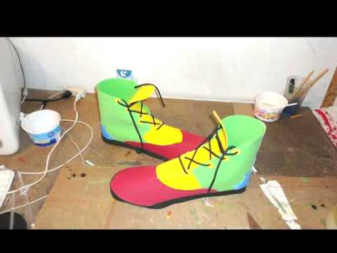 Zapatos de Payaso con Foami - YouTube