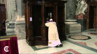 (Pope) Francis Goes to Confession  3/30/14
