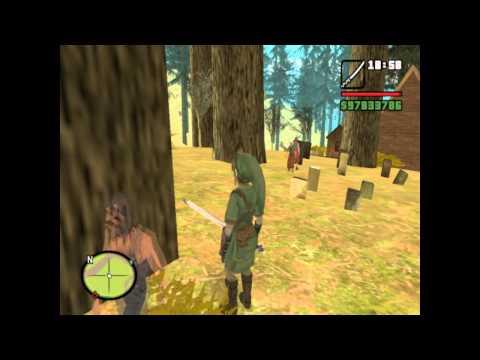 GTA San Andreas - Las aventuras de Link - ''El desayuno de Zelda'' parte 1/2