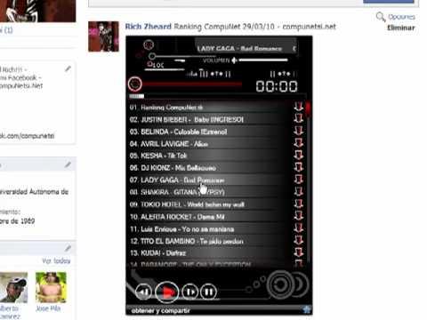 Colocar un Reproductor de Musica en tu Facebook