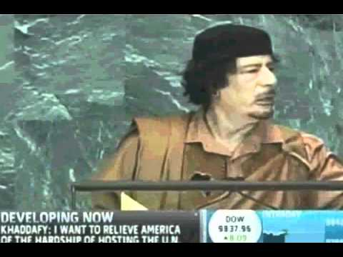 Muammar Gaddafi Speech To United Nations. September 23, 2009 (full) video