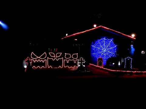 2011 Halloween Light Show: Diary Intro/Crazy Train