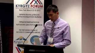 JANYSH OSMON. THE FIRST WORLD FORUM OF THE KYRGYZ COMMUNITIES ABROAD
