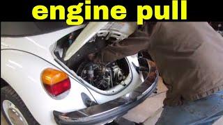 vw super beetle engine oil leak gets fixed.