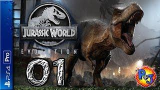 Let's Play Jurassic World Evolution | PS4 Pro Gameplay Episode 1 | Dinosaur Theme Park Sim! (P+J)