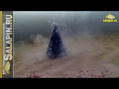 Вскрытие зимней кормушки под водой (с мотылем и прикормкой) [salapinru]