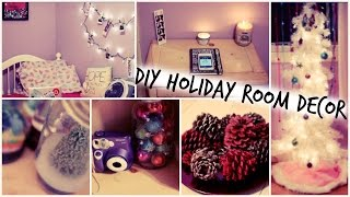 DIY Holiday Room Decorations + Easy Ways to Decorate for Christmas // Tumblr Inspired