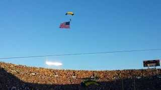 Awesome Navy Seals Parachute Into Notre Dame Stadium