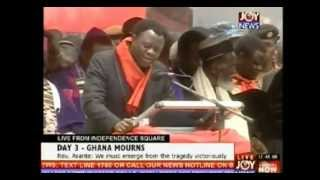 President Mills Burial (Rev Eastwood Anaba prays for Ghana)