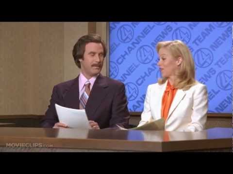I'm Going to Punch You in the Ovary Scene - Anchorman The Legend of Ron Burgundy MOVIE (2004)