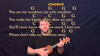 You Are My Sunshine - Ukulele Cover Lesson with Chords, Lyrics
