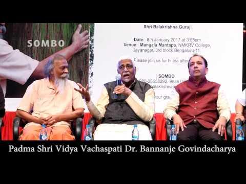 Speech by Padma shri. vidya vachaspati Dr Bannanje Govindacharya