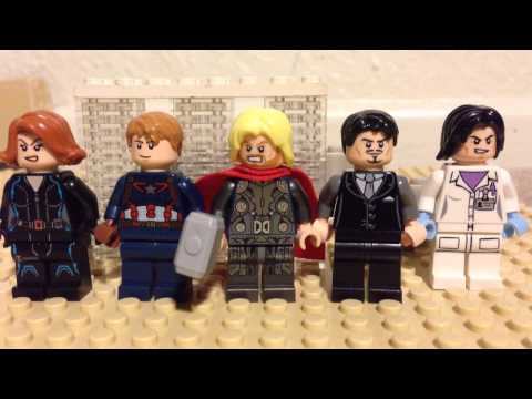 Avengers Age of Ultron trailer 3 shot for shot stopmotion in Legos