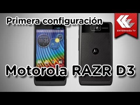 Motorola Razr D3: Primera configuración
