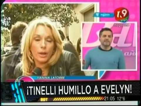 Evelyn humillada por Tinelli, acá su descargo