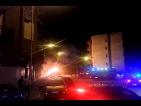 A Trani cinque auto a fuoco nel quartiere Pozzopiano