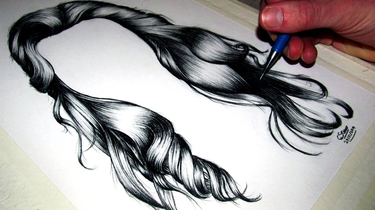 How to draw long hair anime