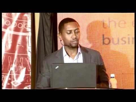 Dr. Assefa presenting on Innovation & Policy at the East African Business Summit on 19th Nov 2011