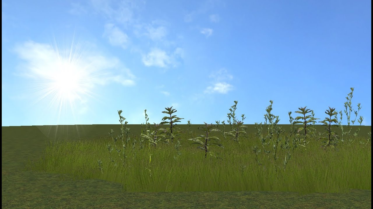 Grass in The Blender Game