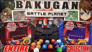 OUR ENTIRE BAKUGAN TOY COLLECTION! OPENING A NEW MYSTERY BAKU-STORAGE BOX!