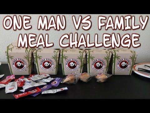 Panda Express Giant Family Meal Challenge *One Man Panda Feast*   FreakEating vs the World 84