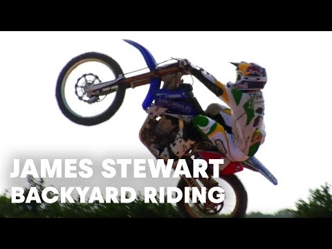 James Stewart heli shoot and backyard riding session Video