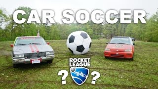Rocket League IN REAL LIFE (Soccer with Cars)