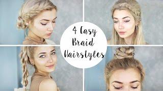 4 Cute Braid Hairstyles | Quick & Easy
