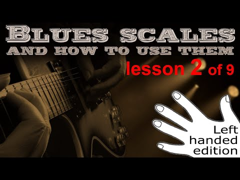 The Pentatonic Blues Scale On Guitar (Left Handed) - Learn How To Improvise The Blues