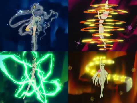 Inner Senshi Group Crystal Power Make UP! (Music Sync)