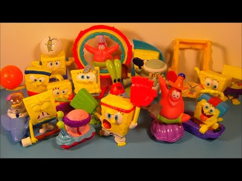 2012 SPONGEBOB SQUAREPANTS OLYMPICS SET OF 16 McDONALD'S HAPPY MEAL TOY'S VIDEO REVIEW