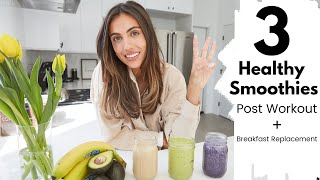3 Healthy Lifestyle Smoothies | Meal Replacement + Breakfast On The Go | Sami Clarke #WithMe