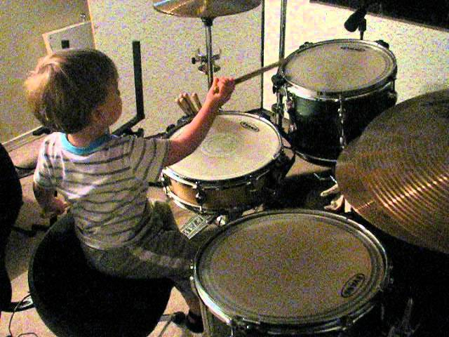 Gus Sneaks in Some Drumming Practice 1