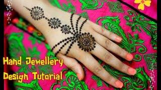 Beautiful Henna Mehndi Jewellery : How to apply beautiful jewellery ornamental henna mehndi design