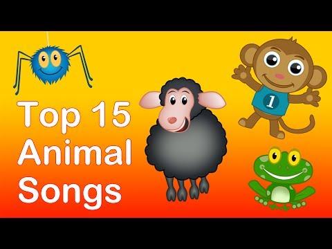 Top 15 Animal Songs| Animals Nursery Rhymes Playlist for babies...