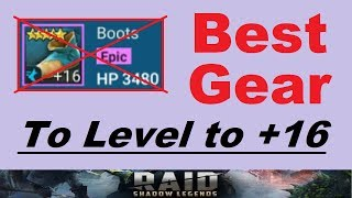 ~Best Gear~ to Level to +16 in RAID: Shadow Legends (& Tips to Save *TONS* of Silver Gearing Up)