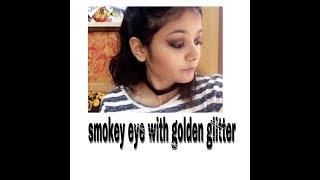 dark smokey eye + golden shimmer || Mahima Mehta ❤️