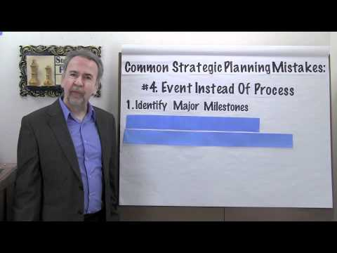 Strategic Planning Mistakes:  #4 - Event Not a Process - Project Management Video