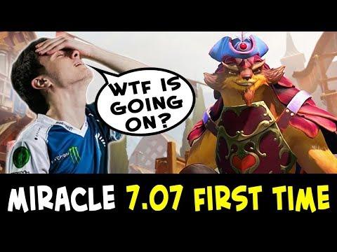 Miracle in 7.07 FIRST TIME — new META Puck Mjollnir + 25 lvl Talent