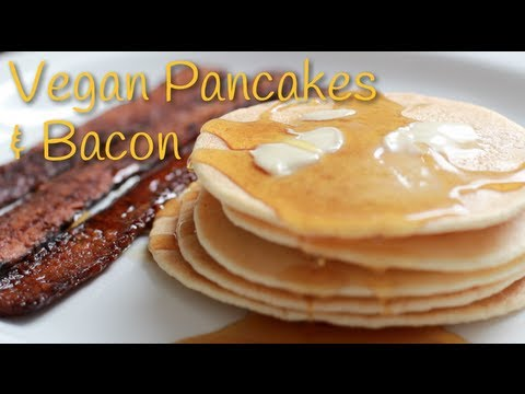 Vegan Pancakes and Bacon