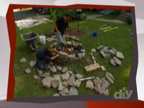 Learn How to Build A Backyard Stone Firepit-DIY