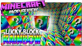 MINECRAFT 1.8 LUCKY BLOCK RAINBOW MOD - CARRERA VS TINENQA | ¡El Lucky Block arcoiris!
