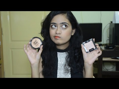 Wet n Wild Highlighter V/S Maybelline Master Chrome Highlighter | Comparision |  TheNailz4fun
